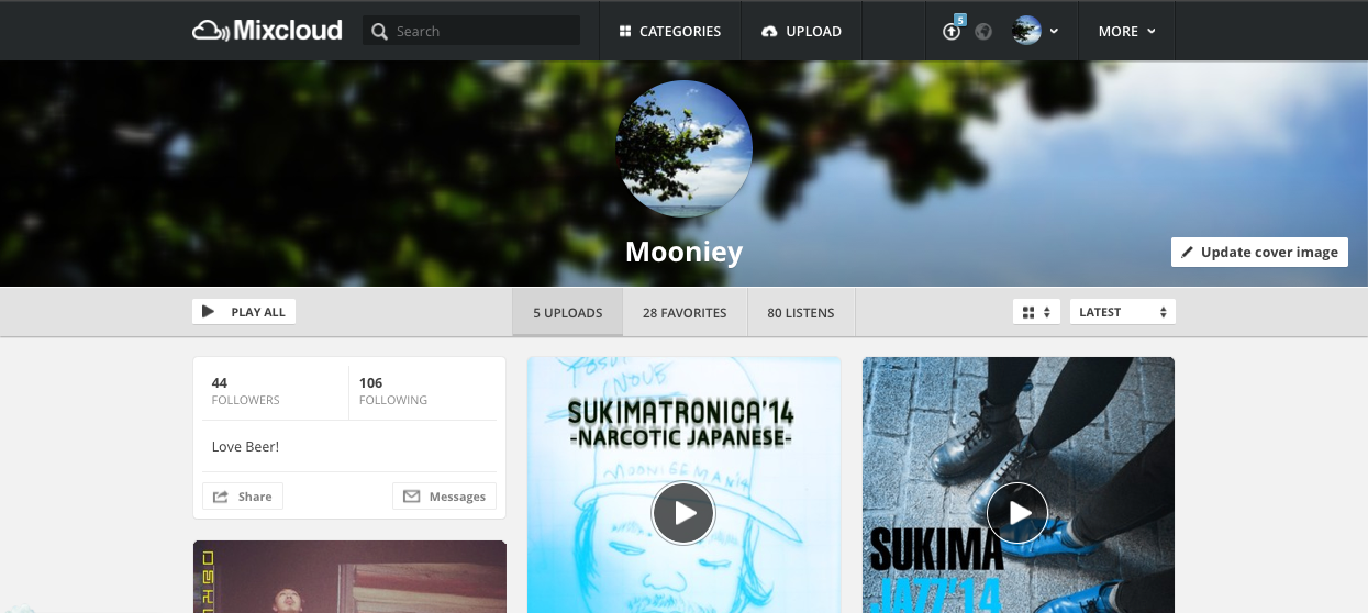 Mooniey|Mixcloud