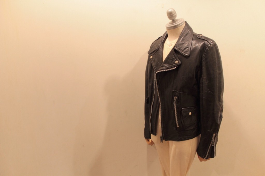 80s UNKNOWN D-Pocket Motorcycle Leather Jkt SIZE 36 CONDITION AsIs 9900yen