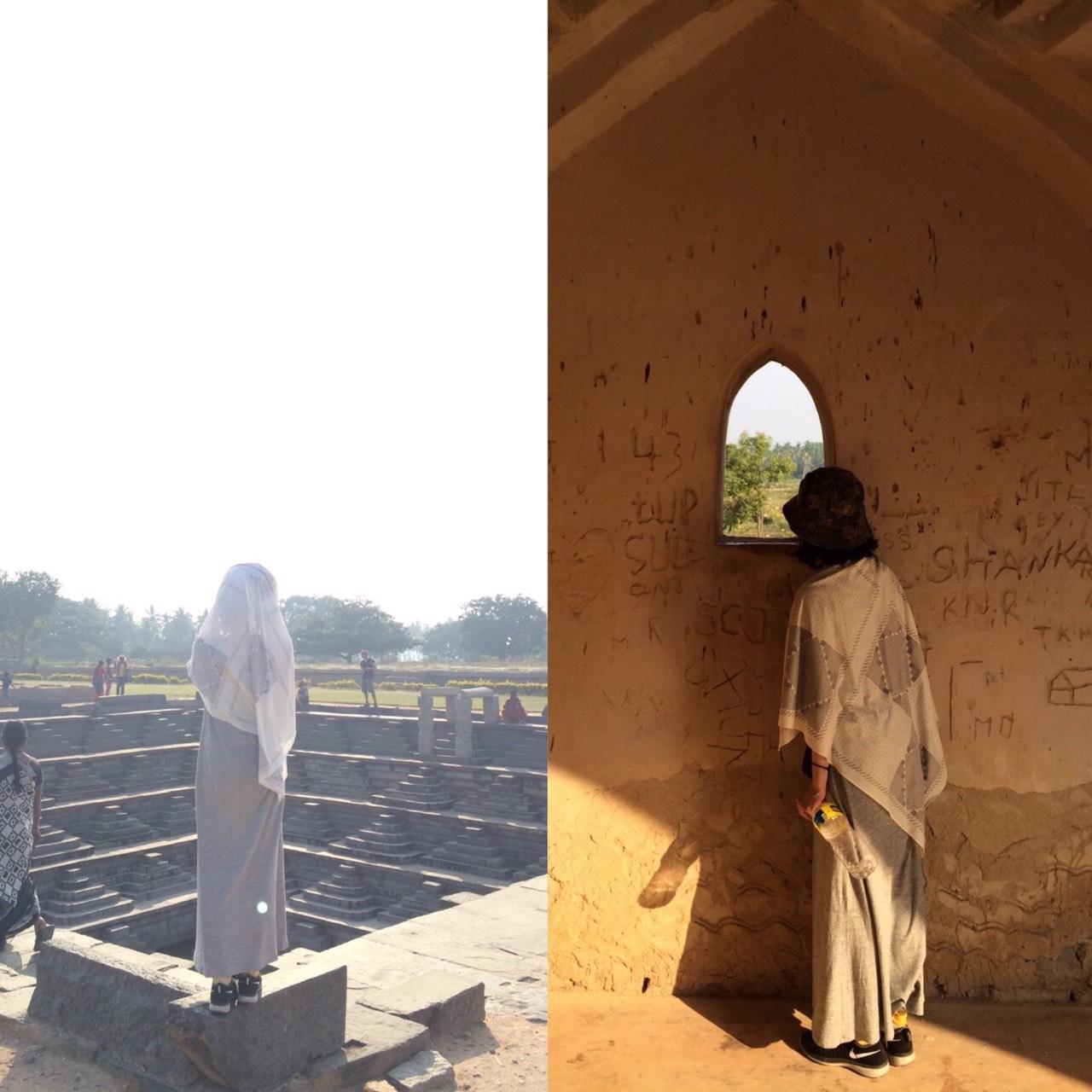 この写真は、O-デザイナーの夫人でもある、薫姫が夫婦でインドに行ったときの写真です。