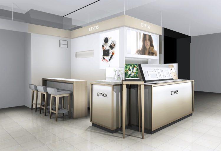 エトヴォスが3月15日より大丸京都店に国内2店舗目となる常設カウンターを出店。