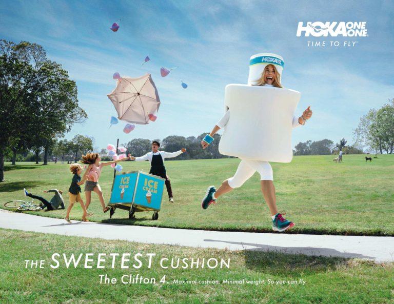「走るマシュマロ」を見つける。THE SWEETEST CUSHION キャンペーン|HOKA ONE ONE