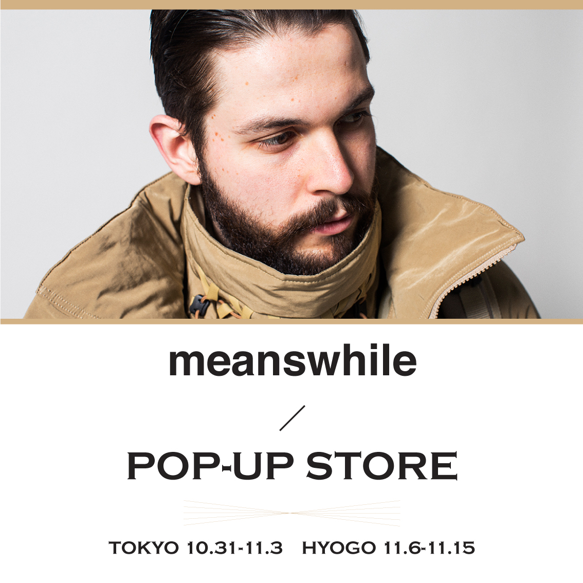 meanswhileがブランド初のPOP-UP STOREを開催