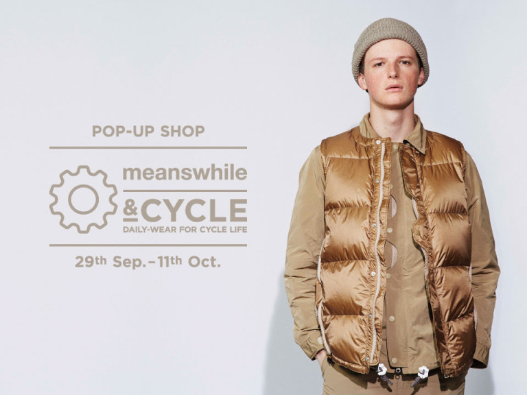 meanswhileがRATIO&CにてPOPUPSHOPを開催。