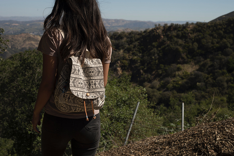 Forest Tribal Printed Cannvas Poet Backpack  |TOMS 2017 AW COLLECTION #003