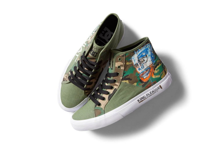 DC Shoesとバスキアのコラボシューズ。スケートデッキも発売。